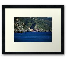 Vernazza from Monterosso Framed Print
