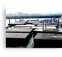 San Francisco, Pier 39 Canvas Print