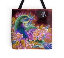 Paradise Bird in Blossoms Tote Bag