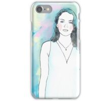 Maiden with Abstracted Colours iPhone Case/Skin