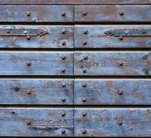 old wooden blue door by dominiquelandau