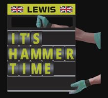 Formula 1's Lewis Hamilton - It's hammer time pit board message Kids Clothes