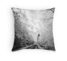 Light and dark is life's path Throw Pillow