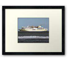 Cruise Liner Vistamar Framed Print