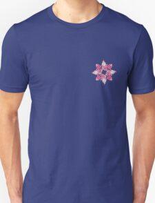 Stylized flowers on the pink background Unisex T-Shirt