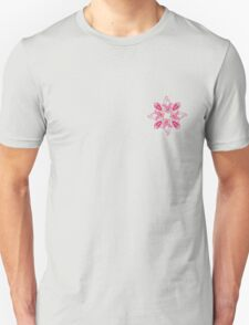 Stylized flowers on the pink background Unisex T-Shirt