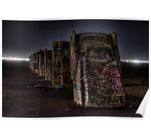 Midnight at Cadillac Ranch Poster