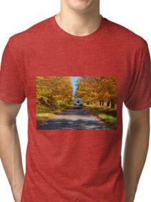 Driving in autumn colours Tri-blend T-Shirt