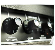 Knobs on a Guitar Amp Poster