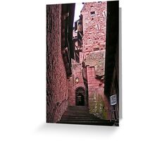 Red castle in Alsace, France Greeting Card
