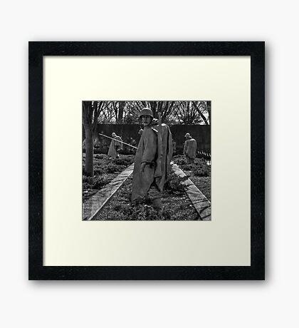 At war Framed Print