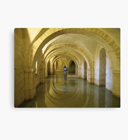 """Golden Echo"" Winchester Cathedral Crypt Canvas Print"