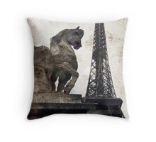 From Paris with Love Throw Pillow