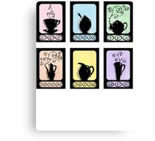Hot Beverage Silhouettes Canvas Print