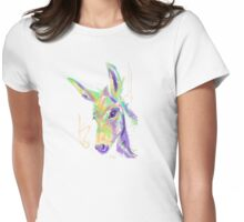 Cute t-shirt color donkey Womens Fitted T-Shirt