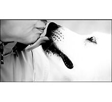 Last Kiss in High Key Photographic Print