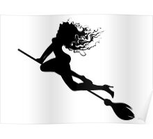 Silhouette of a witch Poster