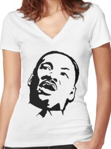 Martin Luther King Women's Fitted V-Neck T-Shirt