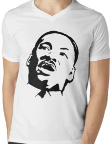 Martin Luther King Mens V-Neck T-Shirt