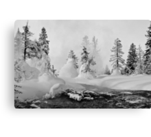 Yellowstone in Winter Canvas Print