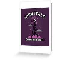 Welcome To Nightvale Radio Greeting Card