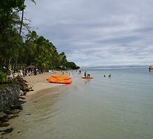Shangri La fiji beach scene by luvpavlova