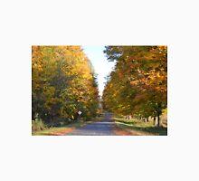 Driving into autumn colors Unisex T-Shirt