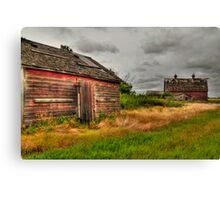 Barns in the prairies Canvas Print