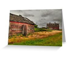 Barns in the prairies Greeting Card
