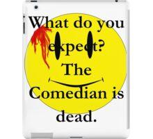 Watchmen, the comedian is dead iPad Case/Skin