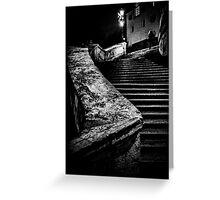 Una signora in cima dei gradini Greeting Card