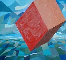 Red Cube by Lowell Smith