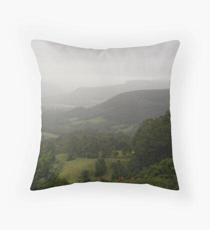 Kangaroo Valley in the Mist Throw Pillow