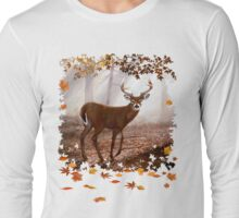 Misty Morning Whitetail Long Sleeve T-Shirt
