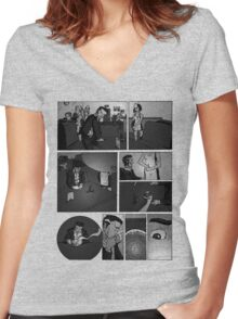 Comic Page Tee 1.01 Women's Fitted V-Neck T-Shirt