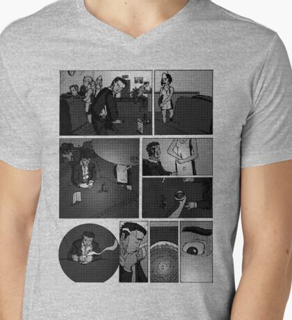 Comic Page Tee 1.01 Mens V-Neck T-Shirt