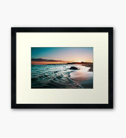 sunset colours Framed Print