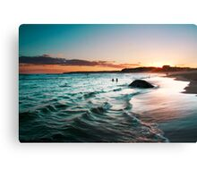 sunset colours Canvas Print