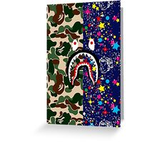Bape Camo, Billionaire & Shark Greeting Card