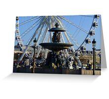 Paris, Place de la Concorde Greeting Card