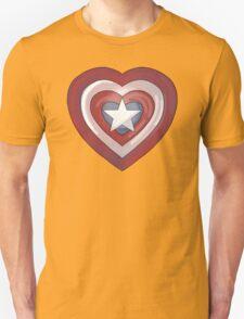 Captain America Heart T-Shirt