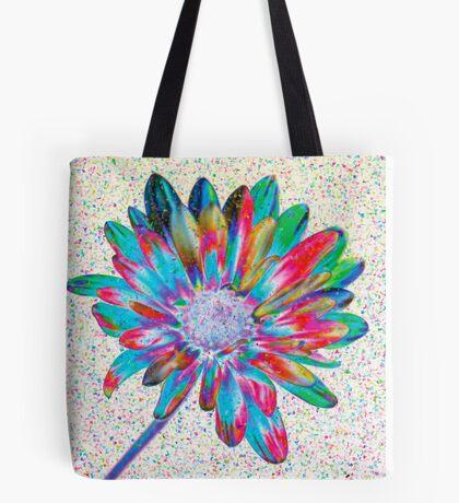 Rainbow Daisy Tote Bag