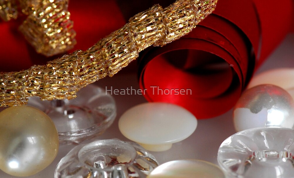 Buttons and bows by Heather Thorsen