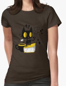 Books and Cats and Tea Womens Fitted T-Shirt