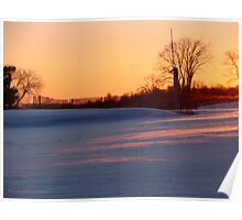 Winter Sunset Over the Snow Poster