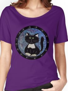 Black and White Tuxedo Kitty Women's Relaxed Fit T-Shirt