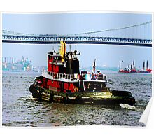 Tugboat at Penn's Landing, PA Poster
