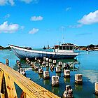 Boat Docked at Antigua by Susan Savad