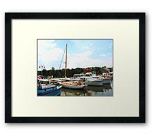Line of Docked Boats, Tuckerton Seaport, NJ Framed Print