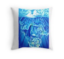 What lurks below. (iceberg) Throw Pillow